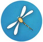 dragonfly-blue-circle-150